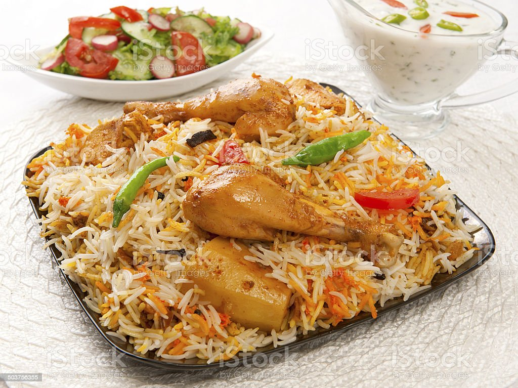 Chicken Biryani-12 stock photo