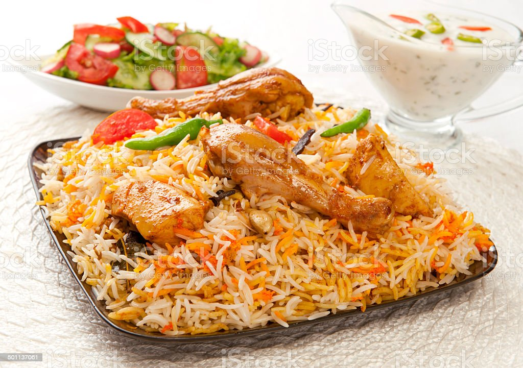 Chicken Biryani-1.4 stock photo