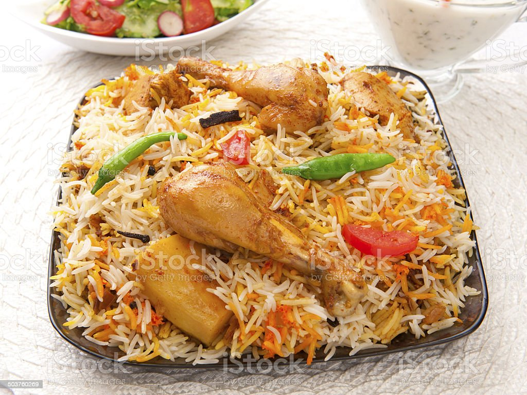 Chicken Biryani-1.5 stock photo
