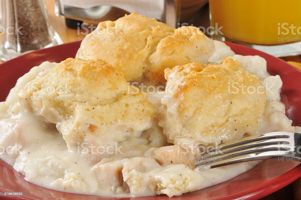 Chicken biscuit casserole stock photo