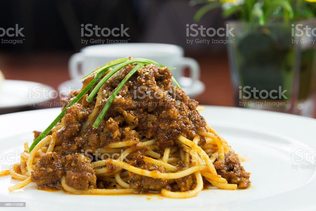 Chicken Bolognese stock photo