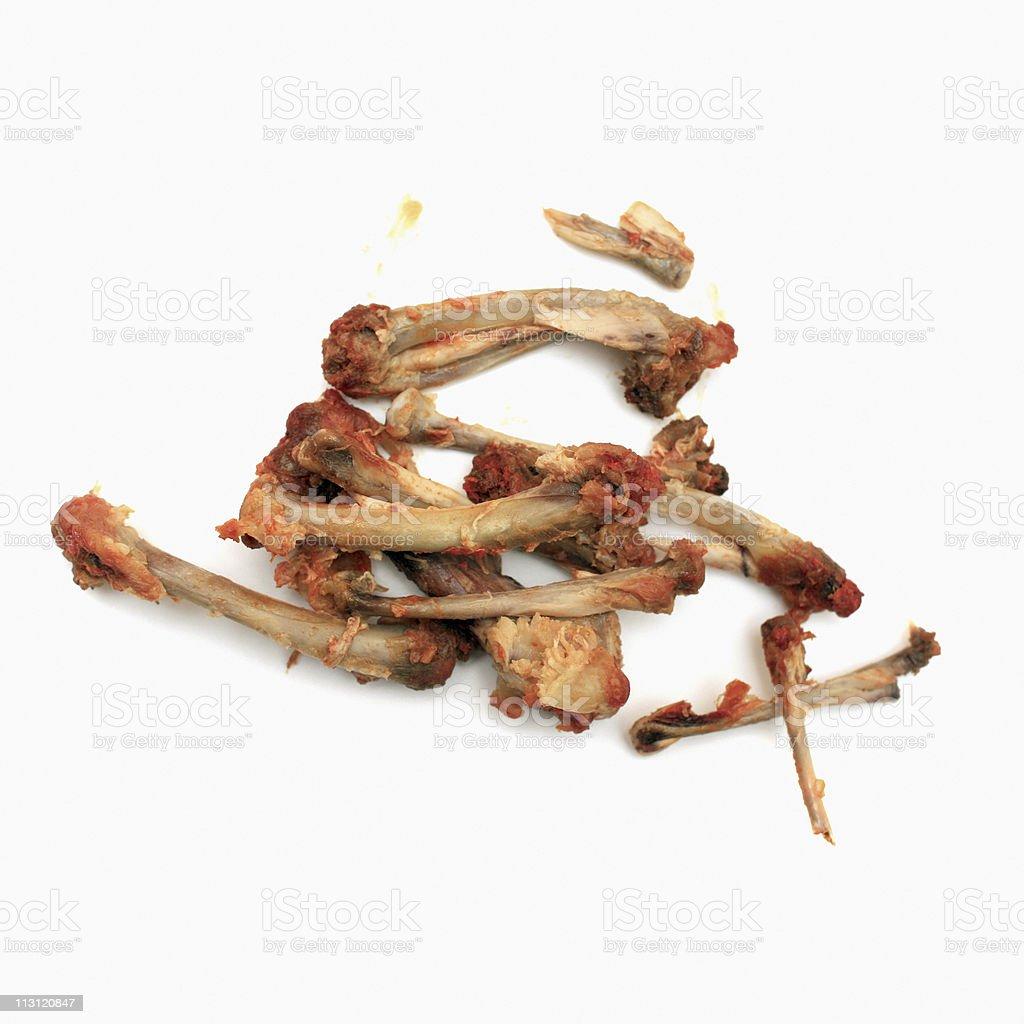 Chicken Bones - Buffalo Wings on White Background royalty-free stock photo