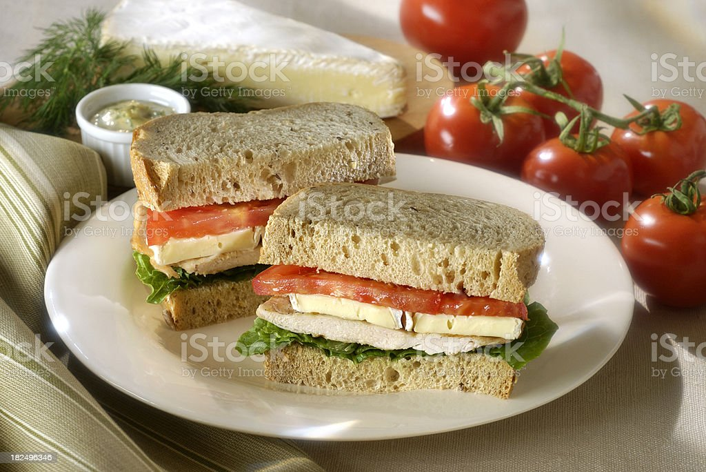 Chicken Breast and Cheese Sandwich stock photo