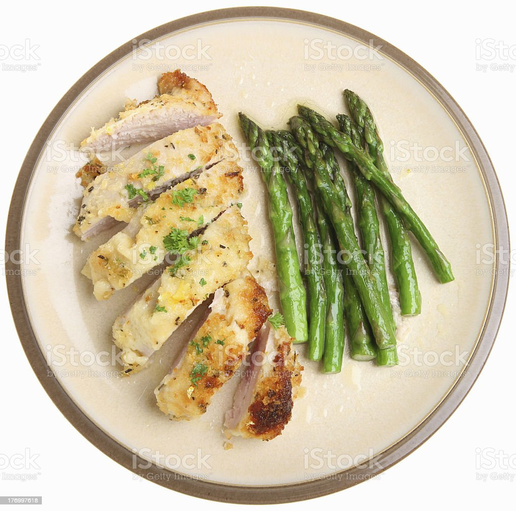 Chicken Breast Baked with Lemon & Parmesan Cheese royalty-free stock photo