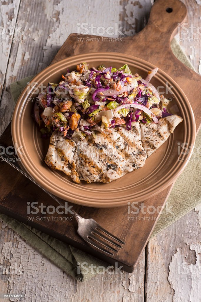 Chicken Breast Chop Salad stock photo
