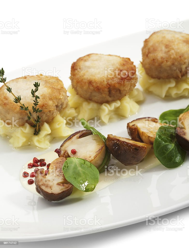 Chicken Breast Cutlet with Mushrooms royalty-free stock photo