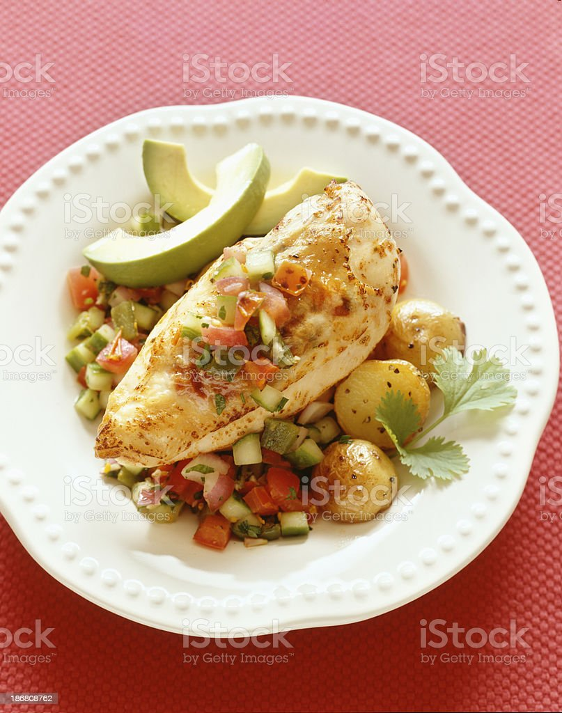 Chicken breast dinner royalty-free stock photo