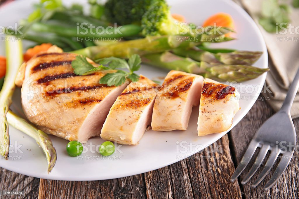 chicken breast fillet stock photo