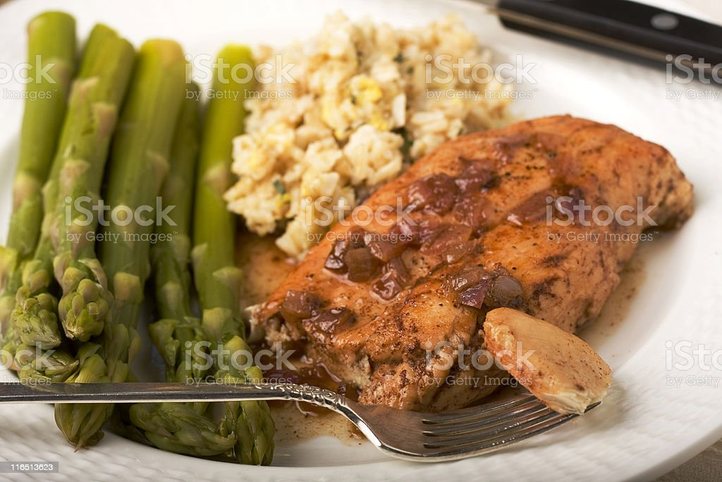 Chicken Breast in a Port Wine Sauce royalty-free stock photo