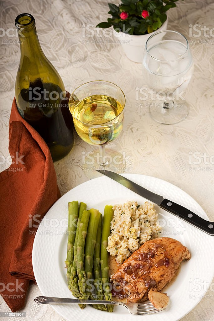 Chicken Breast in a Port Wine Sauce stock photo