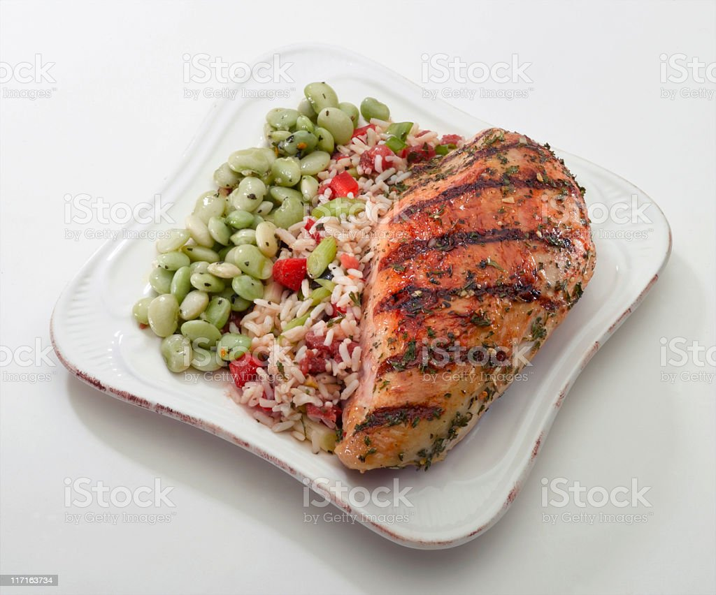Chicken Breast (grilled) stock photo
