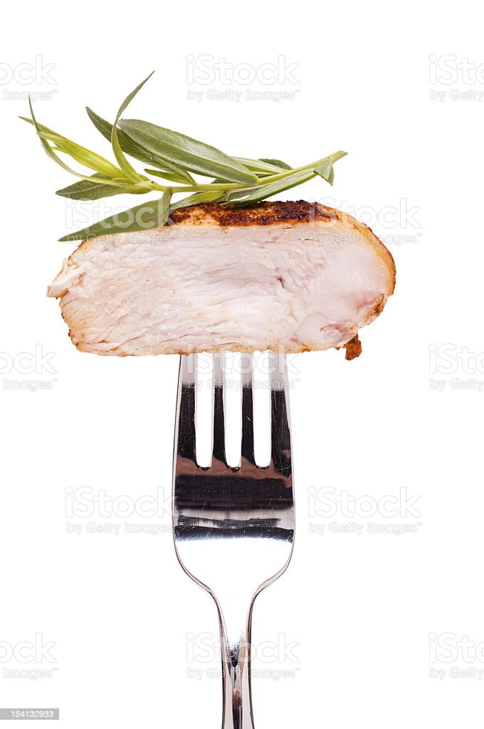 Chicken breast with tarragon stock photo