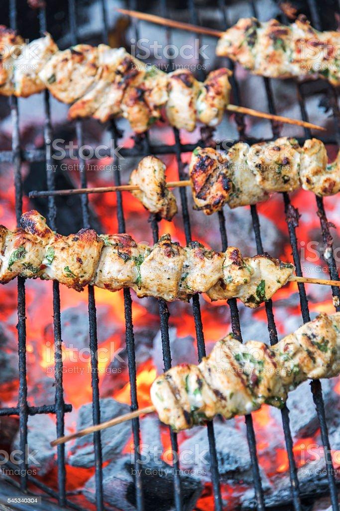 Chicken Brochettes stock photo