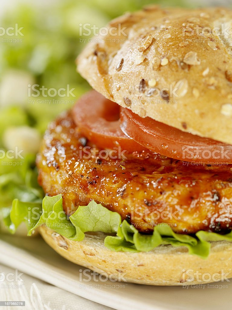 BBQ Chicken Burger royalty-free stock photo