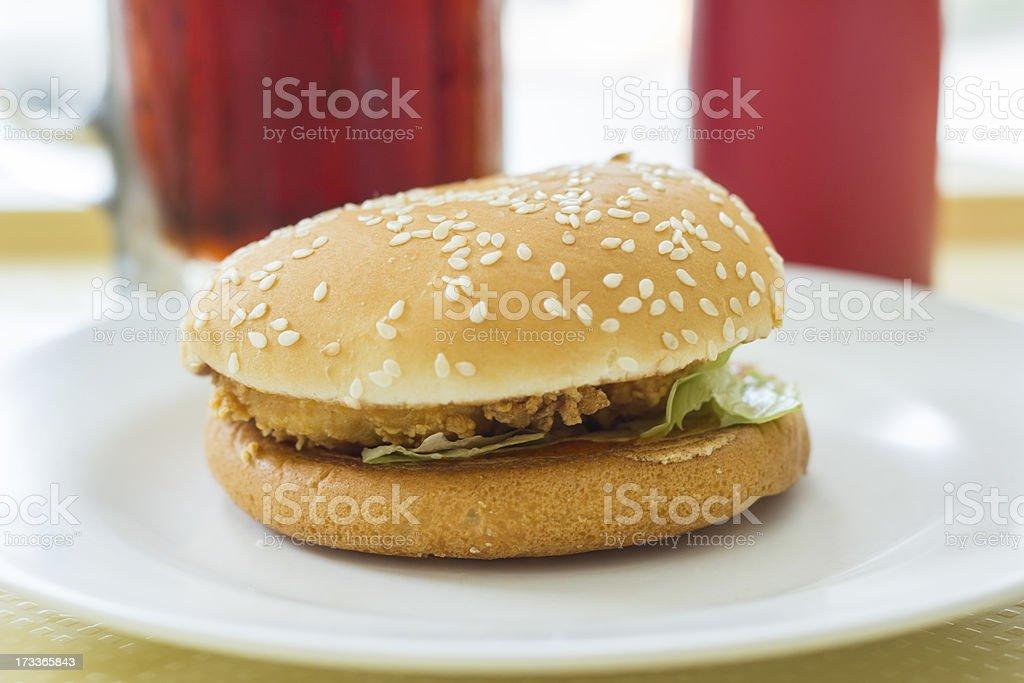 chicken burger royalty-free stock photo
