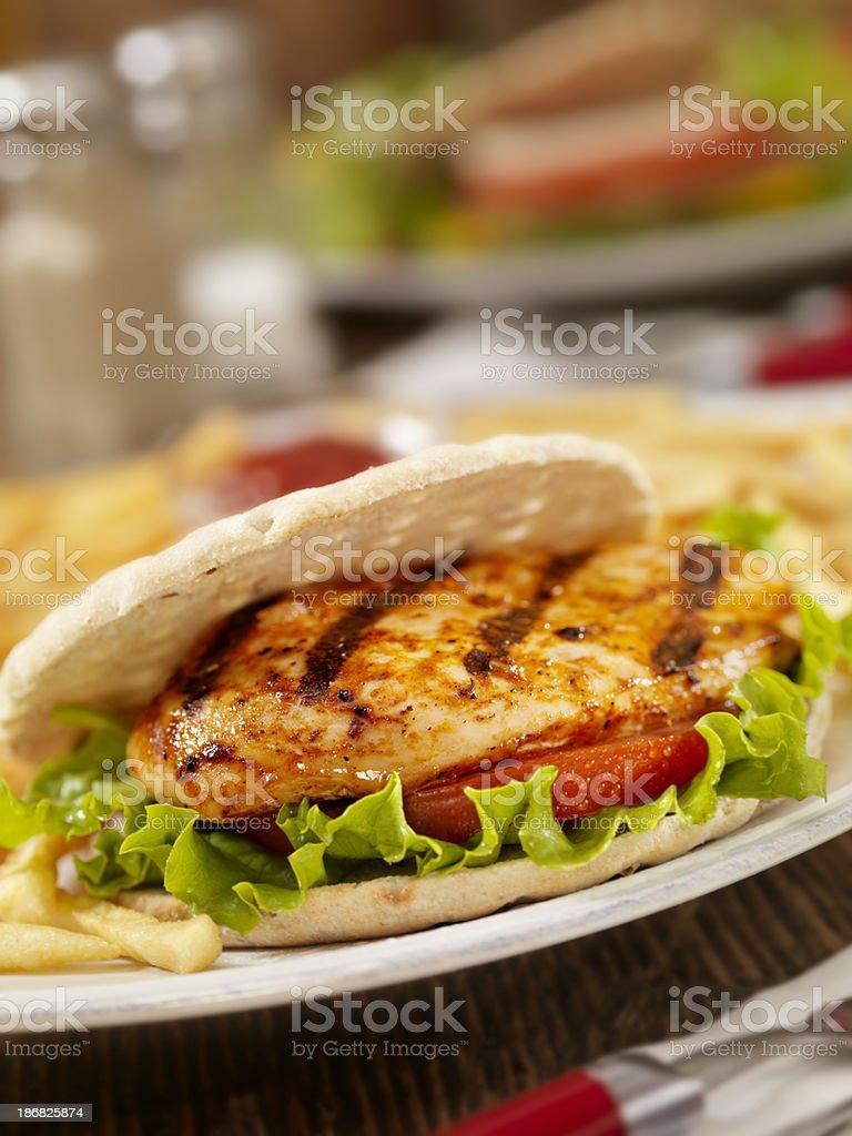 BBQ Chicken Burger stock photo