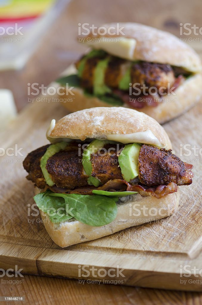 Chicken burgers royalty-free stock photo