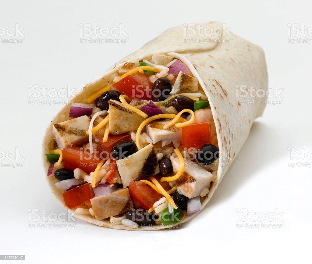 Chicken Burrito royalty-free stock photo