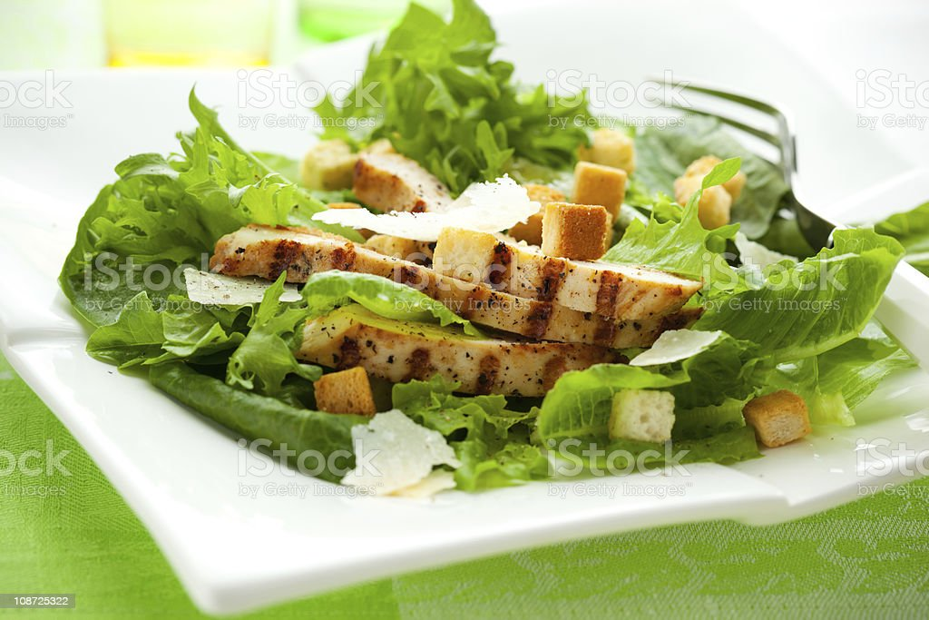 Chicken Caesar salad stock photo