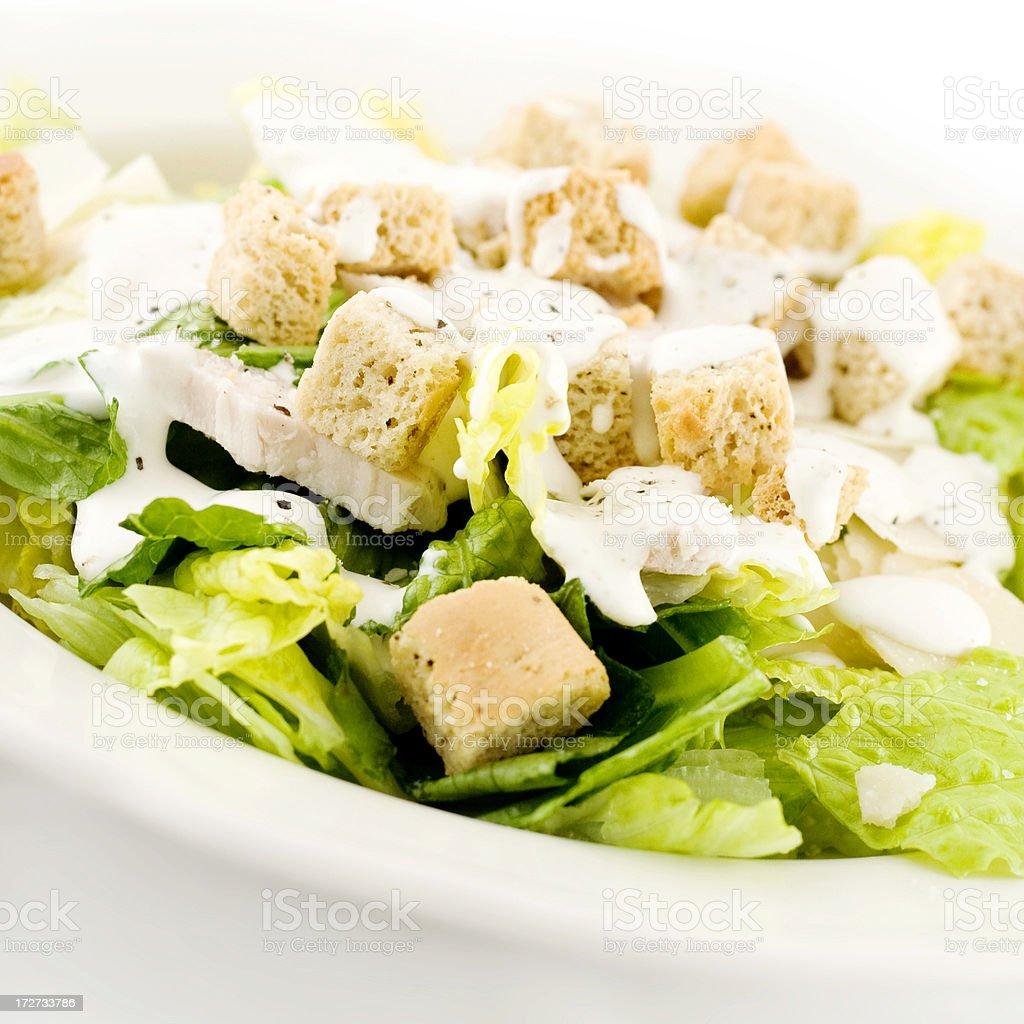 Chicken Caesar salad stock photo