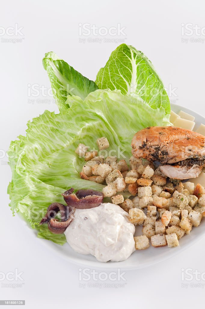 Chicken Caesar salad royalty-free stock photo