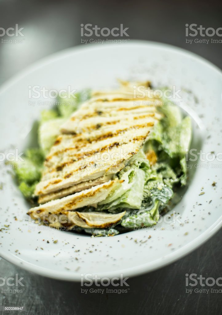 Chicken Caesar salad royalty-free stock photo
