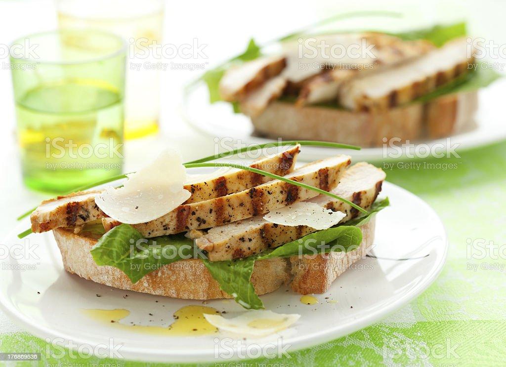 chicken Caesar sandwich royalty-free stock photo