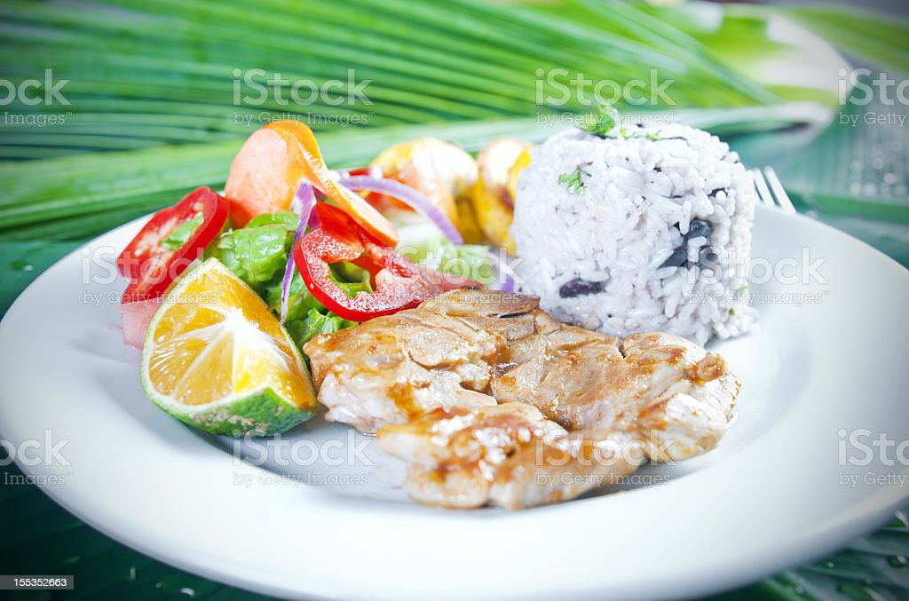 Chicken casado, a traditional Latin American meal royalty-free stock photo