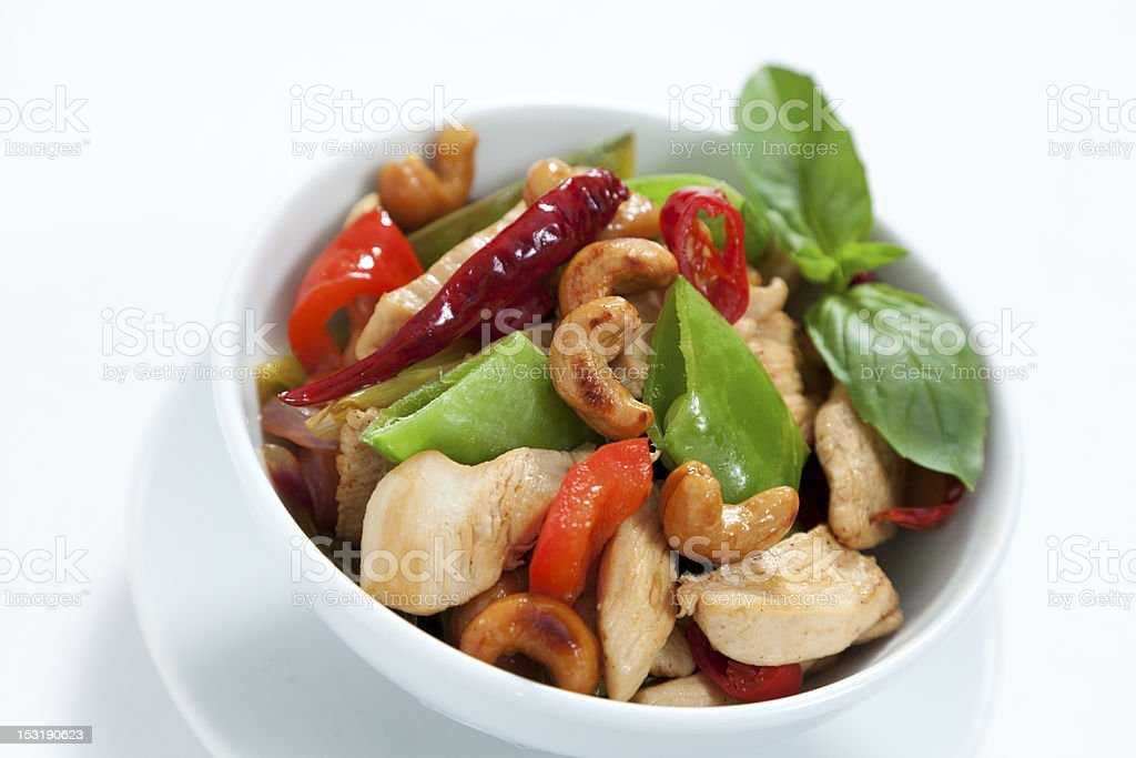 Chicken cashew nuts royalty-free stock photo