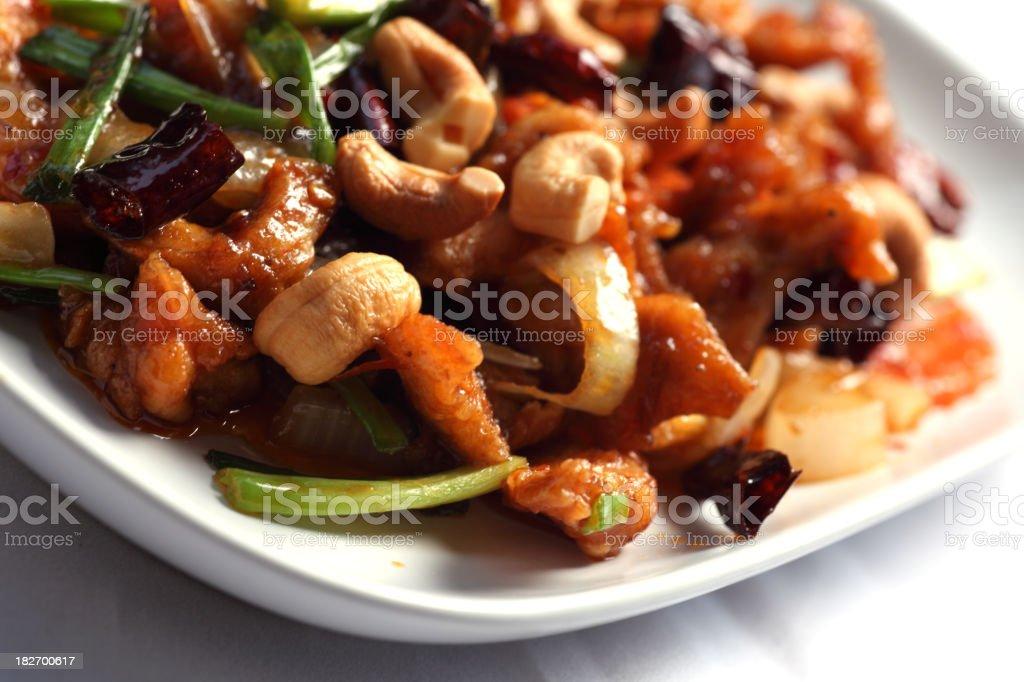 Chicken cashew royalty-free stock photo