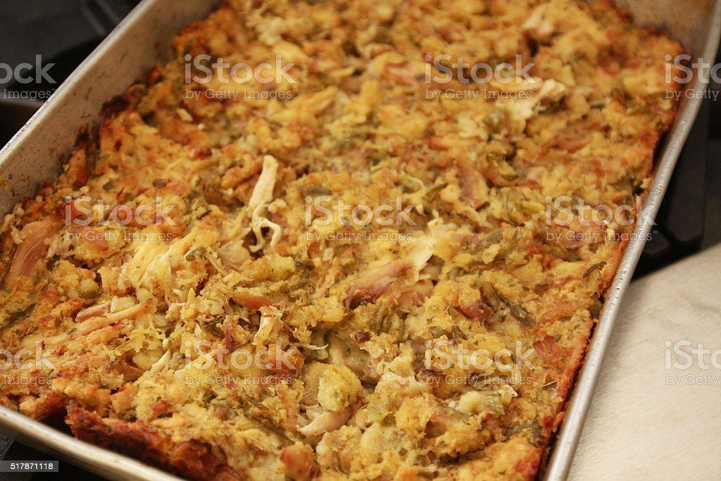 Chicken Casserole in a Baking Pan stock photo