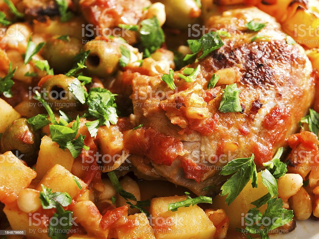 Chicken casserole stock photo