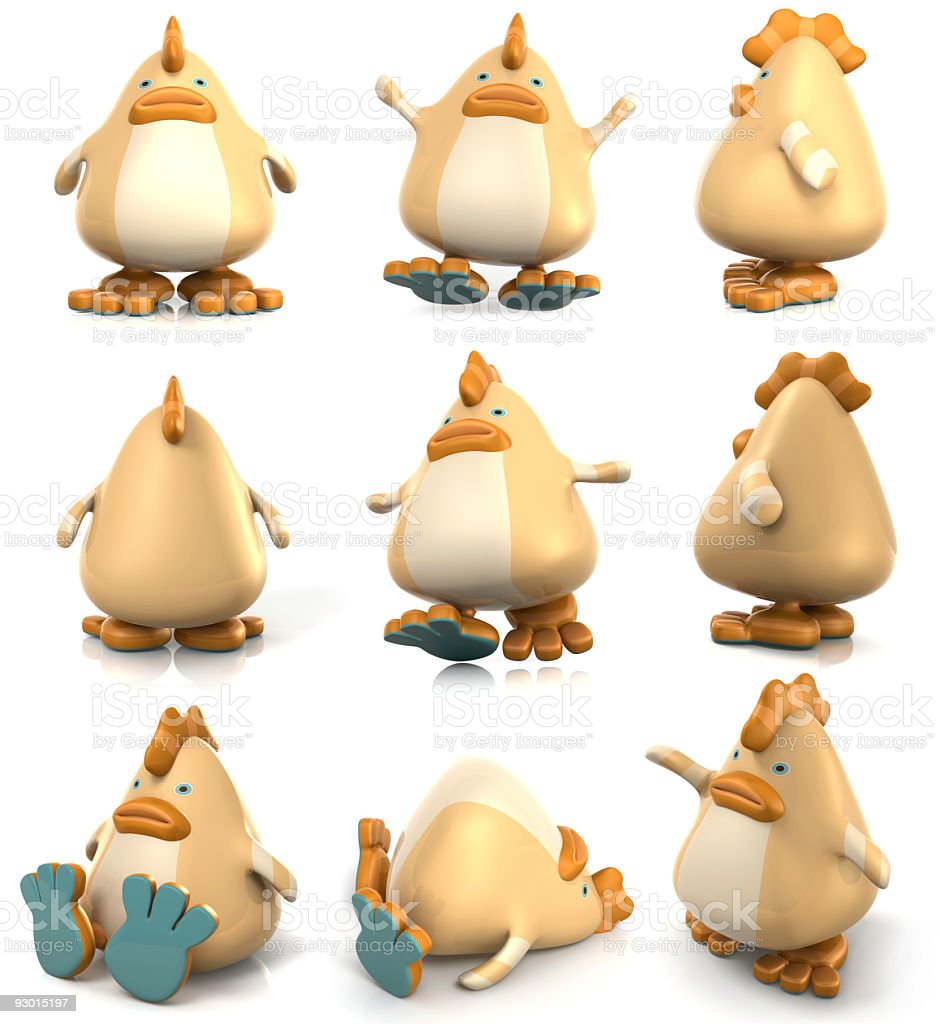 Chicken Character royalty-free stock photo