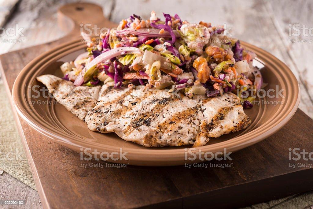 Chicken Chop Salad stock photo