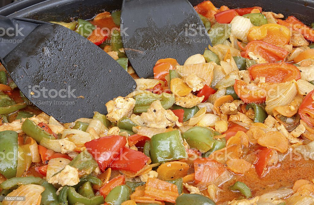 chicken chop suey, chinese style royalty-free stock photo