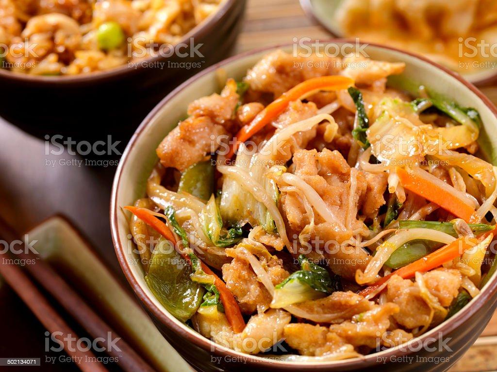 Chicken Chop Suey stock photo