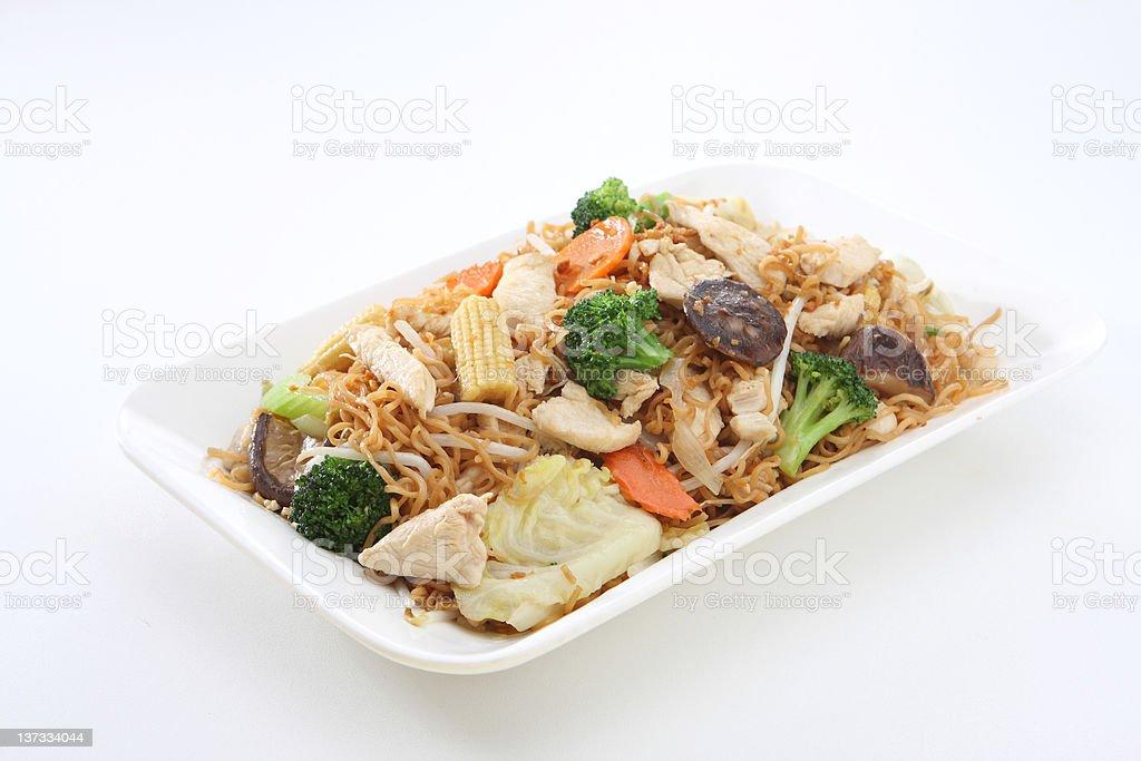 Chicken chow mein stock photo