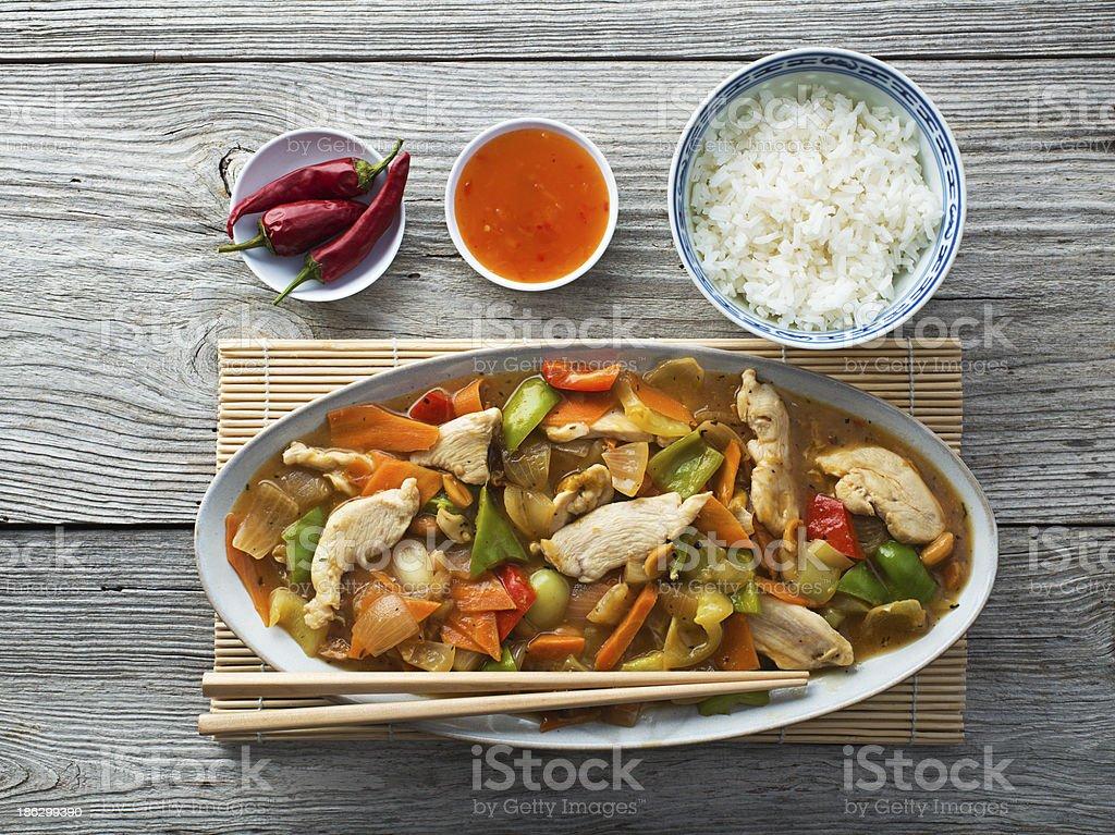 Chicken chp suey stock photo