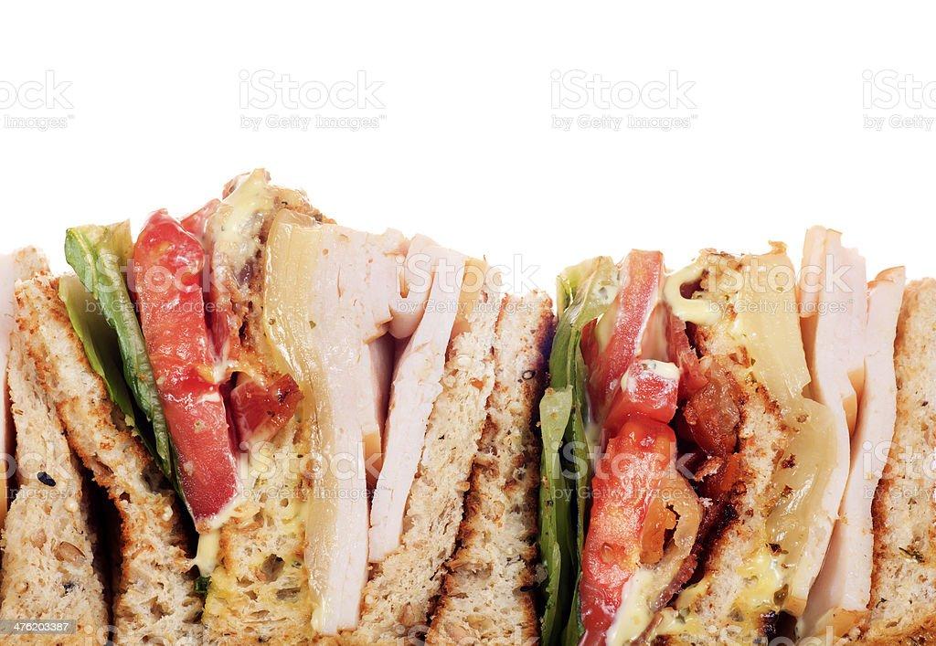 Chicken club sandwich royalty-free stock photo