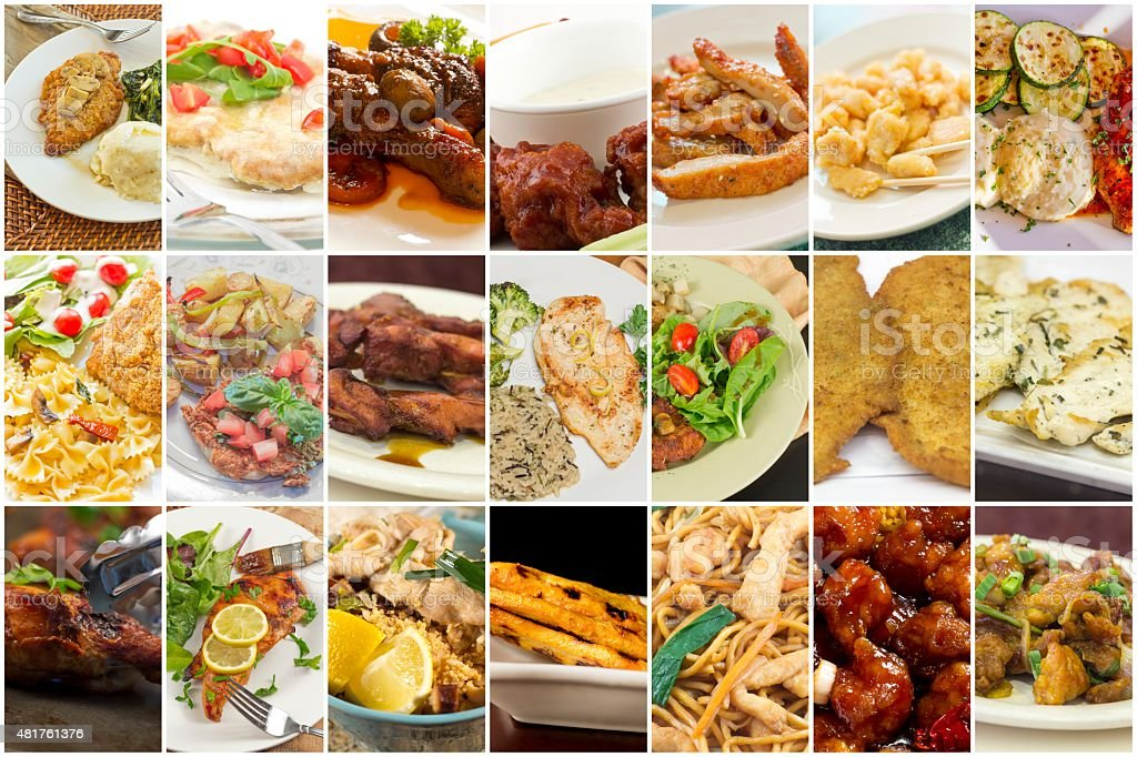 Chicken Collage stock photo