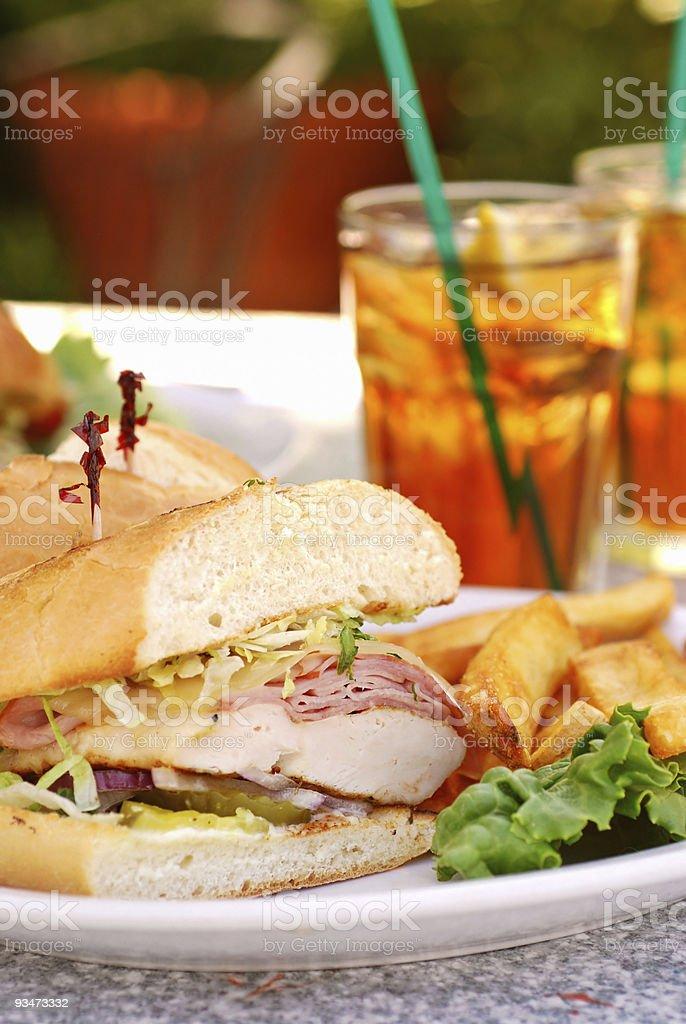 Chicken Cordon Bleu Sandwich royalty-free stock photo