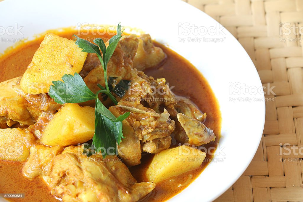 Chicken Curry with potato stock photo