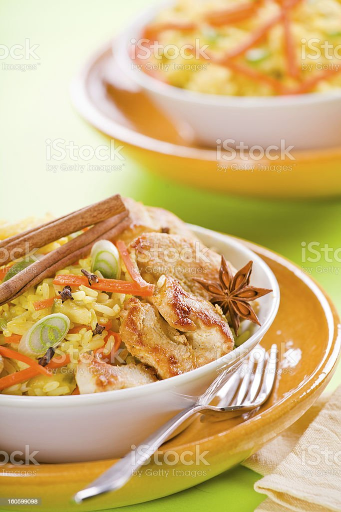 Chicken Curry With Spices royalty-free stock photo