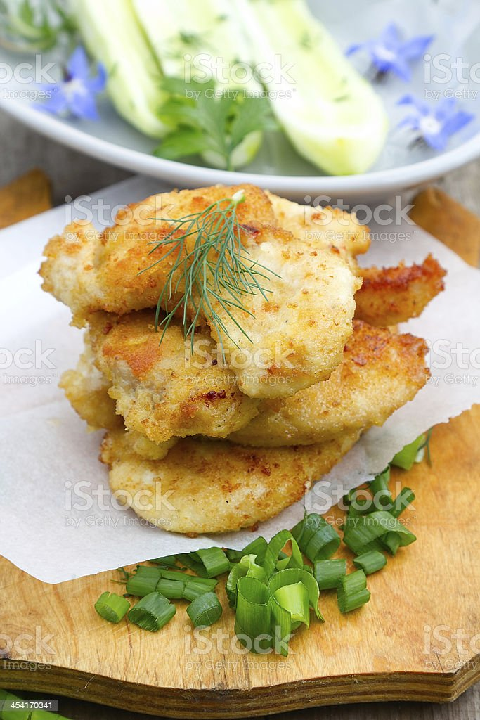 Chicken cutlet royalty-free stock photo