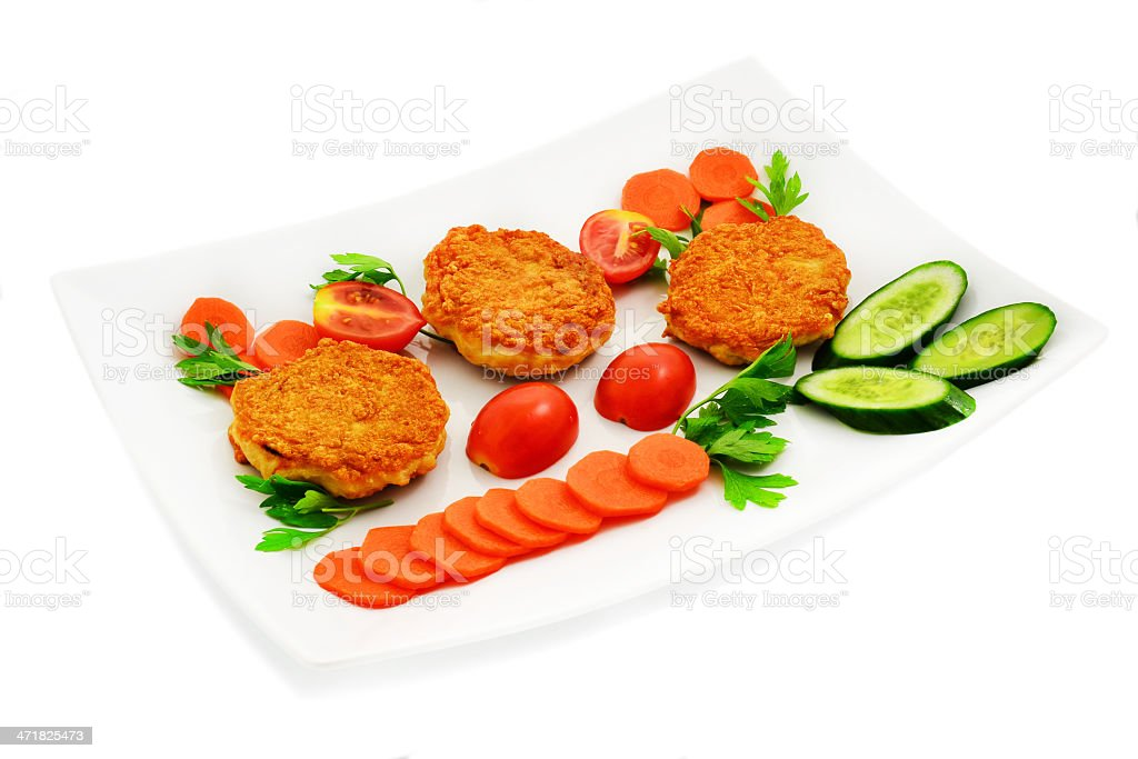 Chicken cutlets royalty-free stock photo