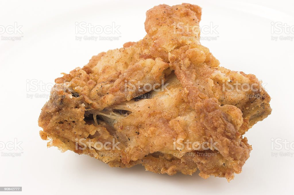 Chicken deep fried royalty-free stock photo