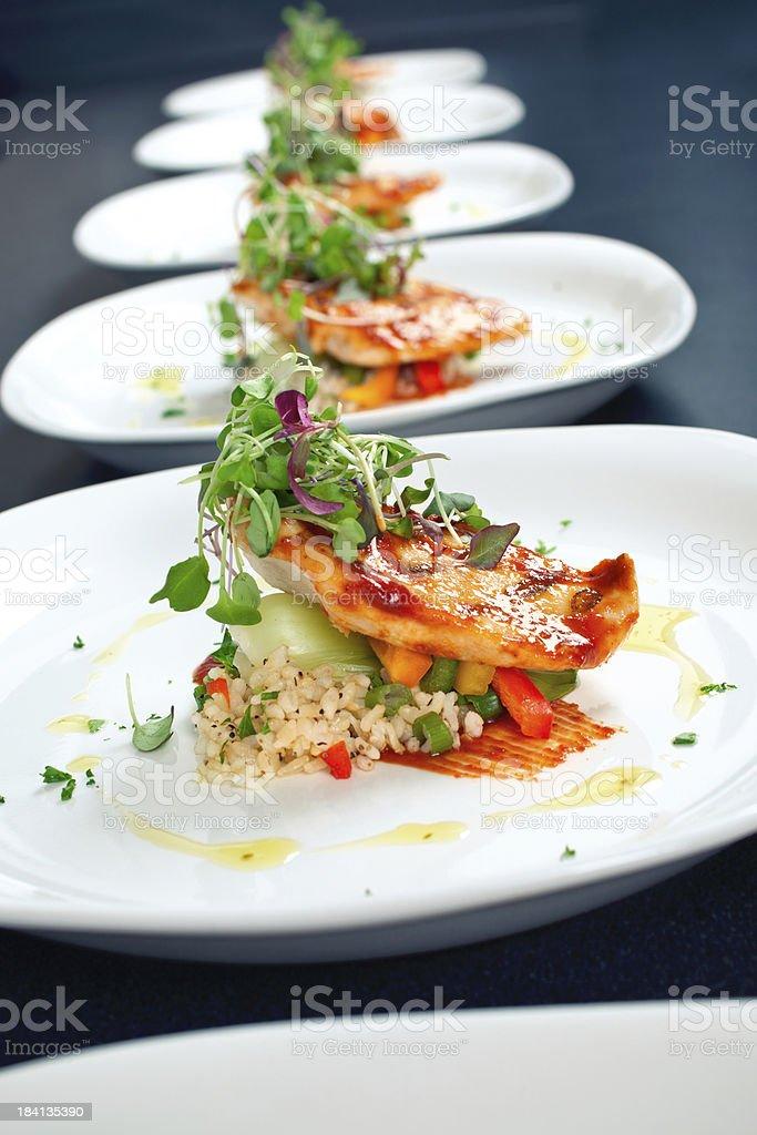 BBQ Chicken Dinner stock photo
