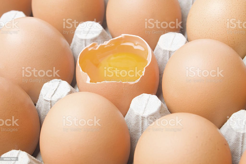 Chicken egg cart royalty-free stock photo