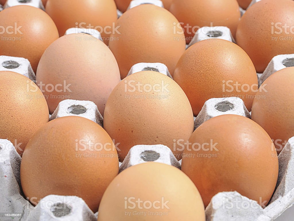 Chicken eggs royalty-free stock photo