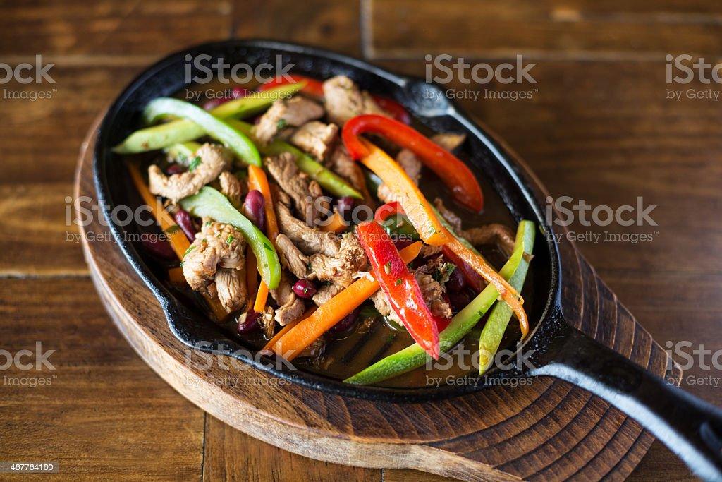 Chicken Fajita Closeup stock photo